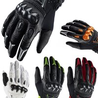 Wholesale Black White Green Motorcycle Gloves - Free shipping Brand Men motocross Full finger Carbon fiber gloves ventilate leather racing motorcycle cycling gloves moto gloves