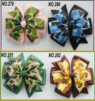 4.5inches Baby Ribbon Bow Double Layer Hairpin Clips Girls Camo Animal Print Bowknot Barrette Детские детские аксессуары для волос KFJ131