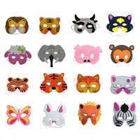 Wholesale beautiful masks resale online - Beautiful EVA Animal Children Party Mask Child Christmas Halloween Masks children s party decoration