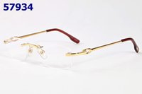 Wholesale Spectacles Frames For Men Fashion - Luxury Metal Optical Glasses Frame for Men Women Rimless Eyeglasses Frames Fashion Reading Glasses Spectacles With Box