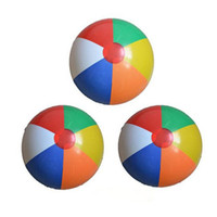 Wholesale Small Inflatable Balls - Colorful Small 23cm Inflatable Swimming Pool Play Party Water Game Balloon Beach Ball Fun Rubber Educational Soft Toy For Kids Baby