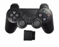 ps2 беспроводной игровой контроллер оптовых-PS2 контроллер PS2 беспроводной игровой контроллер геймпад с джойстиком приемника для Sony PlayStation 2 видеоигр