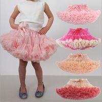 Wholesale Korea Skirt Nylon - Children Tutu Skirt Korea Style baby girls Partywear skirt Mesh Clothing bowknot tulle Girl's Pleated dresses Free shipping G070