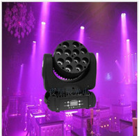 Wholesale Rgbw Led Moving Head Beam - LED beam moving head light 12x12w rgbw 4in1 color with advanced 9 16 dmx channels for dj disco parties show lights