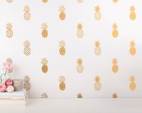Wholesale wall art d - 24pcs set Pineapple Wall Decal Large Pineapples Wall Sticker for Kids Room Home decor Party Decor Nursery Wall Decal mural wallpaper D-986