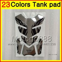yamaha tapa de gas al por mayor-23Colors Protector de almohadilla del tanque de gas de fibra de carbono 3D para YAMAHA T-MAX500 08 09 10 11 TMAX500 T MAX500 2008 2009 2010 2011 3D Etiqueta engomada de la tapa del tanque