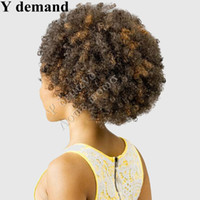 Wholesale Short Afro Kinky Curl - Claw Ponytails Hair Accessories Extensions Short high Sports Curled Claw Afro Kinky Ponytail Drawstring Synthetic Ponytail Y demand