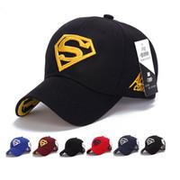 ingrosso cappello da sole superman-Berretto da baseball Visiere da sole Cappello Adulto o Adolescente Cappelli sportivi Cappello da sole all'aperto Cappelli da Superman per cappellino da golf