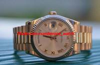 Wholesale mint bracelets - 2017 New Stainless Steel Bracelet MINT 18K ROSE GOLD BOX & PAPERS 118235F men watch 36mm Automatic Mechanical MAN WATCH