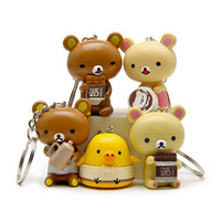 Wholesale Rilakkuma Home - Key Chain Kawaii Rilakkuma Bear Making Food Version Synthetic Resin 5 Pieces for office home desk toy