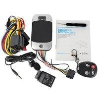 tv remota mão venda por atacado-Faixa Realtime GSM GPS GPRS do quadrilátero do perseguidor dos Gps do veículo 303G que segue o sistema de alarme do assaltante da segurança do carro dos dispositivos 303F