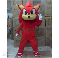 trajes do epe venda por atacado-EPE Knuckles Sonic the Hedgehog Trajes Da Mascote Fancy Dress Halloween Adulto Terno Tamanho