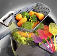 Wholesale Large Baskets Wholesale - Hot Large Nylon Strainer Scoop Basket Colander kitchen Accessories gadgets Drain Vegies water Scoop cozinha gadget cooking tools