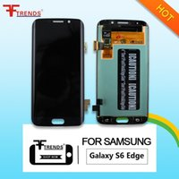 Wholesale Mobile Lcd Touch Screen - For Samsung Galaxy S6 EDGE Cellphone Original LCD Screen Digitizer Mobile Phone LCD Touch Display Clear Display High Quality Hot Sale
