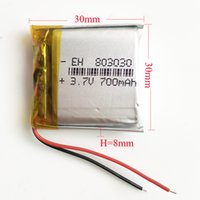 Wholesale Dvd Game - Model 803030 3.7V 700mAh Li-Po Rechargeable Battery Lithium Polymer replace power For Mp3 DVD GPS PSP Vedio Game Mobile phone Camera toys