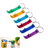 Wholesale Beer Cap Keychain - 2017 New Multifunction Tool Wine Beer Bottle Opener With keyChain Cans Multil Colors Aluminium Alloy Wine Beer Corkscrew Cap Bottle Openners