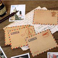 Wholesale cute korean paper envelope - Wholesale-20 pcs lot (1 bag ) Mini Retro Vintage Paper Envelope Fashion Cute Kawaii Korean Stationery Wholesale Free shipping 254