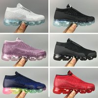 Wholesale Knit Shoes For Babies Girls - fashion designer baby children kids vapormax CS R running shoes For boys girls white black runner trainers knitting 2 sneakers sports shoes