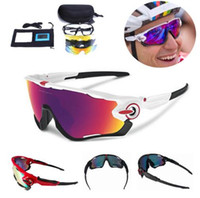 Wholesale Racing Bicycles Brands - 2017 Polarized Brand Cycling Glasses Goggles Racing Cycling Eyewear 3 Lens JBR Cycling Sunglasses Sports Driving Bicycle Sun Glasses