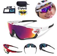 bicicleta o al por mayor-2019 Polarized Brand Gafas de ciclismo Gafas Racing Ciclismo Gafas 3 Lentes JBR Cycling Sunglasses Deportes de conducción de bicicletas Gafas de sol baratos