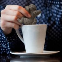 Wholesale cute sloth - Cute sloth tea infuser Lazy sloth food grade silicone tea strainer Loose leaf diffuser accessories Hot sale product