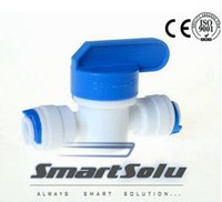 """water ball valve NZ - Equal Straight 1 4 """" OD Hose Quick Connection Plastic Ball Valve RO Water Reveser Osmosis Aquarium System Fittings"""
