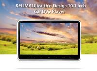 Wholesale Headrest Digital Touch Screen - Universal 12V KELIMA 10.1 inch 1024 x 600 2-DIN Headrest Car DVD Player Digital Touch Screen with FM IR Remote Control 201903101