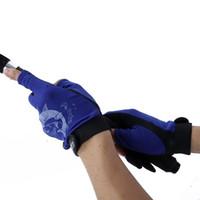 pacote aleatório venda por atacado-Skidproof Resistente Metade do Dedo 3 Dedo Corte Skidproof Resistente Anti-Slip Pacote Luvas de Equipamento de Pesca Aleatória Frete Grátis