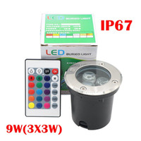 Wholesale Garden Safe - 3*3W LED Underground Light Lamp IP67 Safe Voltage 12V Led In Ground Lights Outdoor Garden Lamp RGB Warm White  Red Blue Green