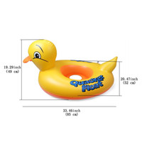 Wholesale Baby s Inflatable Safety Swim Duck Animals Kids Tube Seat Float Boat Ring Retail