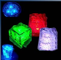 Wholesale Free Ice Cube LED Light Flash Press control Color Wedding Party bars Decoration