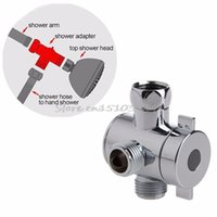 Wholesale Shower Head For Wall - Wholesale- 3 Way T-adapter Valve For Toilet Bidet Shower Head Diverter Valve 1 2 Inch #G205M# Best Quality