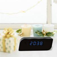 ingrosso sveglia della macchina fotografica attivata-1080P WiFi Camera Alarm Clock Camera HD Nanny Cam Motion Attivato allarme Telecamera di sicurezza senza fili Baby Monitor
