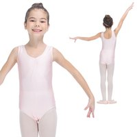 Wholesale Spandex Leotard Kids - Ballet Dancing Nylon Lycra Tank Leotards with Drawstring Front Dancewear for Gils and Kids Practice Full Sizes
