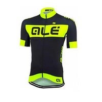 ALE Men Fluorescence Cycling Jersey Mountain Bike Bicycle Sportswear Ropa Ciclismo Short Sleeve Cycle Chine Vêtements de luxe C1305