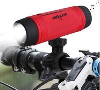 flaşlı spor hoparlör toptan satış-Zealot S1 Bluetooth Hoparlör Kablosuz Taşınabilir Su Geçirmez Subwoofer ile Güç Bankası Smartphone PC için LED Flaş Işık Bisiklet Açık Spor