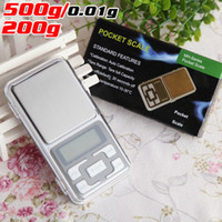 Wholesale Mini Jewellery - Mini 500g 200g Digital Pocket Scales Jewellery Precision Electronic Weight Lab