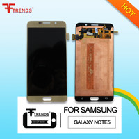 Wholesale Note Screen Parts - High Quality Original LCD Touch Screen Digitizer Replacement Parts For Samsung Galaxy Note 5 Blue White Gold N920 N920V N920A N920T N920P