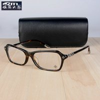 Wholesale luxury spectacle frames resale online - Luxury Optical Brand Frame LANDING STRIP Silver Vintage Optical Frame Full Rim Eyeglass Frames Spectacle Frame