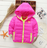 Wholesale Kids Thermal Clothes - 2017 Fashion Children Down Parkas Kids clothes Winter Thick warm Boys girls jackets & coats baby thermal liner down outerwear