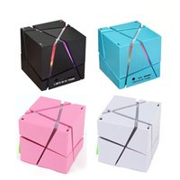 Wholesale Cube Computer Speakers - Portable Magic Cube LED Bluetooth Speaker Wireless Deep Bass Subwoofer For Phone MP3 Computer Music Xiaomi Loudspeaker