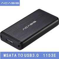 Wholesale 1.8 hdd adapter resale online - Acasis FA quot inch USB mSATA External Hard Disk Drive HDD Enclosure Case Box SSD mSATA Reader Adapter mSATA To USB3
