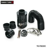 ingrosso filtro ventola-Tansky - Kit di induzione per alimentazione fredda KRICNG di alta qualità Scatola filtro aria in fibra di carbonio con ventola TK-FB2303
