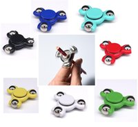 Wholesale Mini Pottery - New lattest pencil mini hand spinner ceramic ball Fingertip Gyro Decompression Anxiety toy Fidget Spinner Toys ceramic ball bearing