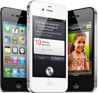 telefone de 3.5 polegadas venda por atacado-Remodelado 100% original da apple iphone 4s desbloqueado celular dual core 64 gb / 32 gb / 16 gb 3.5 polegadas tela 5.0mp