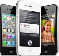 telefon 4s 16gb toptan satış-Yenilenmiş 100% Orijinal Apple iPhone 4 S Unlocked Cep Telefonu Çift Çekirdekli 64 GB / 32 GB / 16 GB 3.5 inç Ekran 5.0MP
