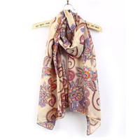 Wholesale womens long winter scarf - Wholesale- HOT 1X Vintage Womens Long Soft Chiffon Scarf Wrap Large Silk Winter Shawl Stole Scarves 170cm x 80cm For women lady girls