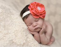 Headbands outdoor baby photos - Infant children lead the act the role of head Baby photos outdoors pearl flowers hair band