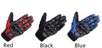 мотоциклетные байкерские перчатки оптовых-Pro-байкер спорт велоспорт перчатки анти-скольжения дышащий полный палец езда на мотоцикле гоночный велосипед перчатки защитное снаряжение