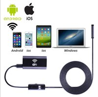 Handheld 1m Hard Wire caméra endoscope Android avec objectif 8mm 6LED USB imperméable à l'endoscope caméra Snake Tube Pipes Borescope
